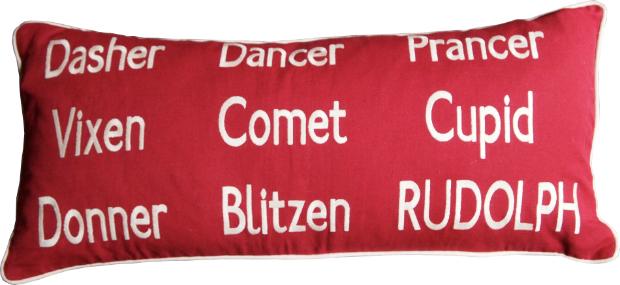 Reindeer Names Cushion, Barbara Coupe £65.00