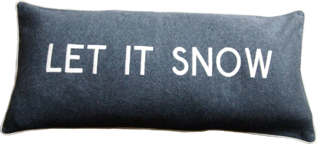 'Let it Snow' Cushion, Barbara Coupe £65.00