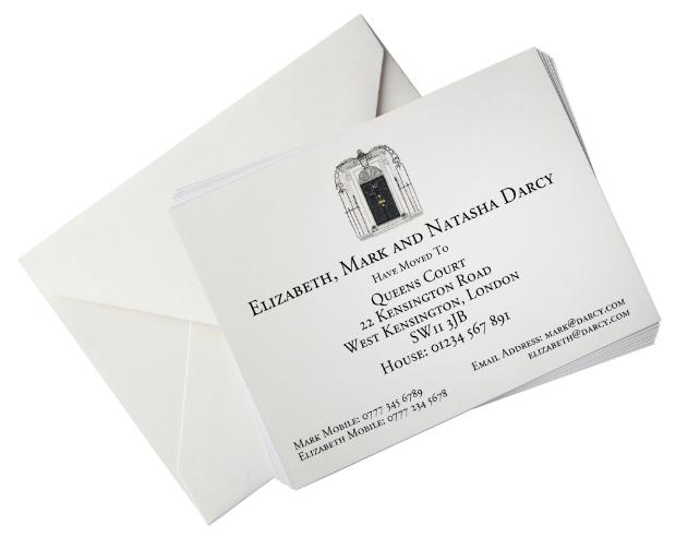 Change of Address Card - 10 Downing Street, HoneyTreeBespoke.com £1.46