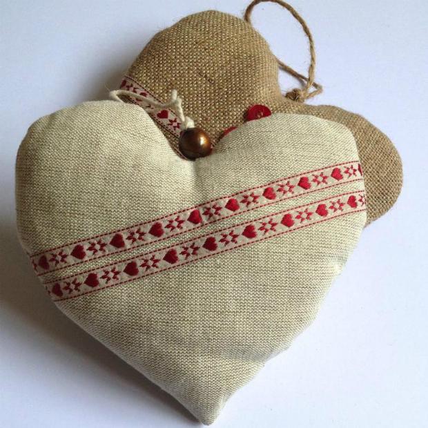 Set of two handmade hearts, Vintage Designs Reborn £9.50