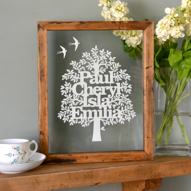 Personalised Family Tree Papercut, Kyleigh's Papercuts £48.00