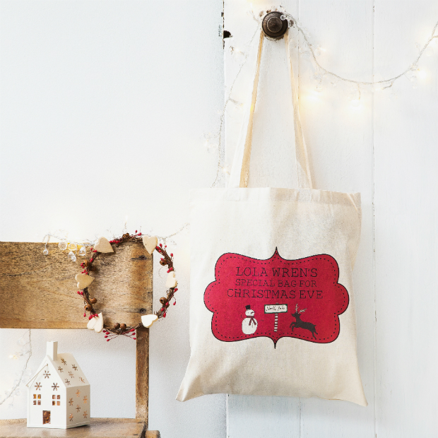 Personalised Christmas Eve Bag, Lou Brown Designs £13.95