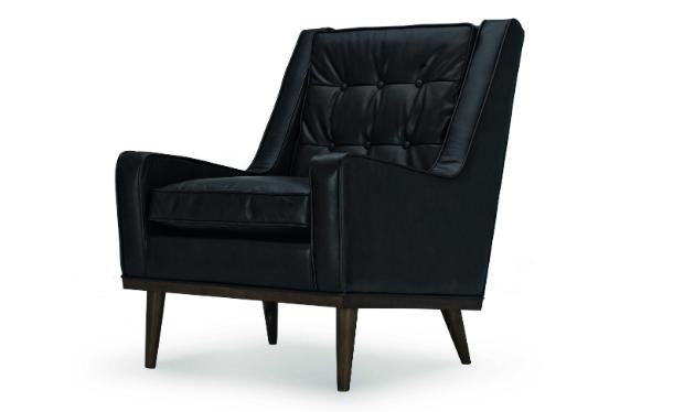 Scott Retro Armchair, Vintage Brown Premium Leather, MADE.COM £649.00