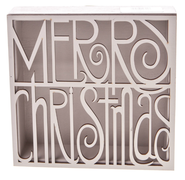 Heaven Sends Merry Christmas Cut Out Wooden Box Sign, MOLLIE & FRED £8.99