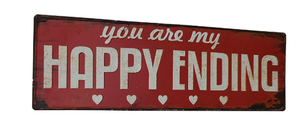 Red Rustic 'Happy Ending' Wall Plaque, Melody Maison £12.00