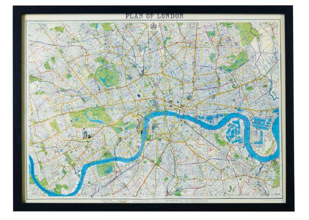 Vintage London Map Frame, Oliver Bonas £65.00