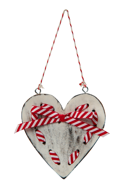 Wooden heart with ribbon detail, Retreat-Home Ltd £5.99