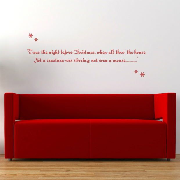 Twas The Night Before Christmas Wall Sticker, Spin Collective £24.00