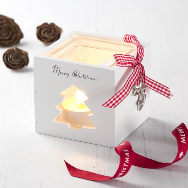 Merry Christmas Wooden Tea Light Holder, The Contemporary Home £5.00