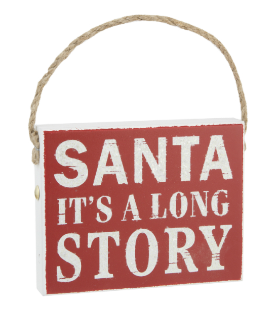 It's a long Story Sign, The Contemporary Home £5.00