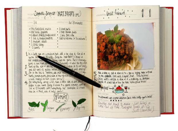 My Family Recipe Book, TheGreatGiftCompany.co.uk £19.00