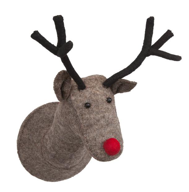Scandi Chic Felt Reindeer Head, The Lifestyle Boutique £42.00