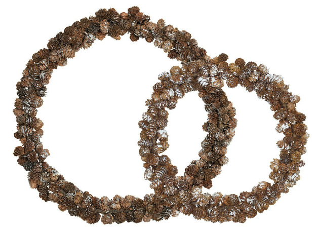 Pinecone Wreath Set Of 2, Occa-Home £32.50