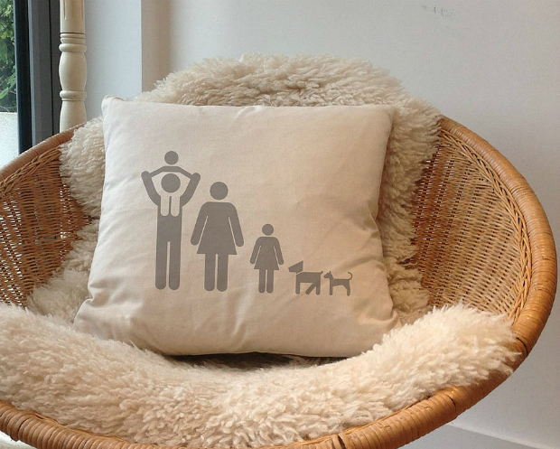 Personalised 'Family Cushion', Not on the High Street £26.00