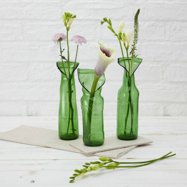 Upcycled Glass Flower Vase, The Comfi Cottage £12.00