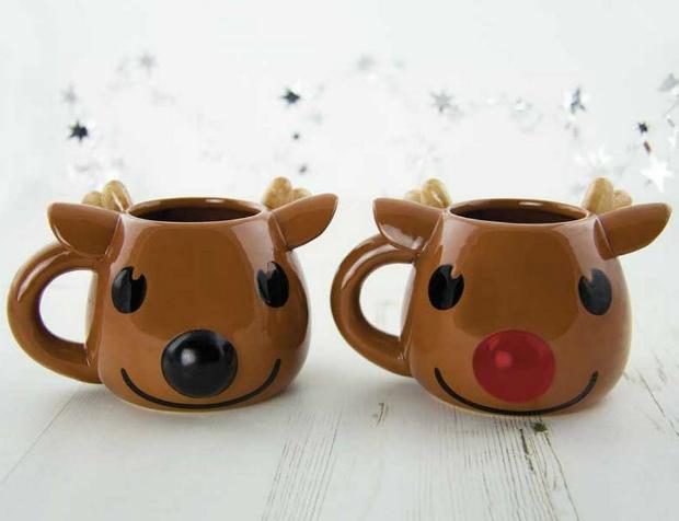 Rudolph Heat Change Mug, Not on the High Street £9.50