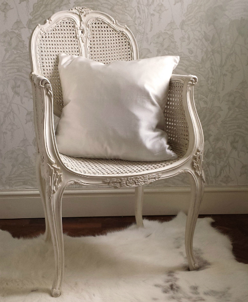 Provencal Rattan White Chair, The French Bedroom, £252.00