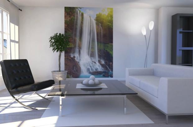 Waterfall in Rainforest, Photowall