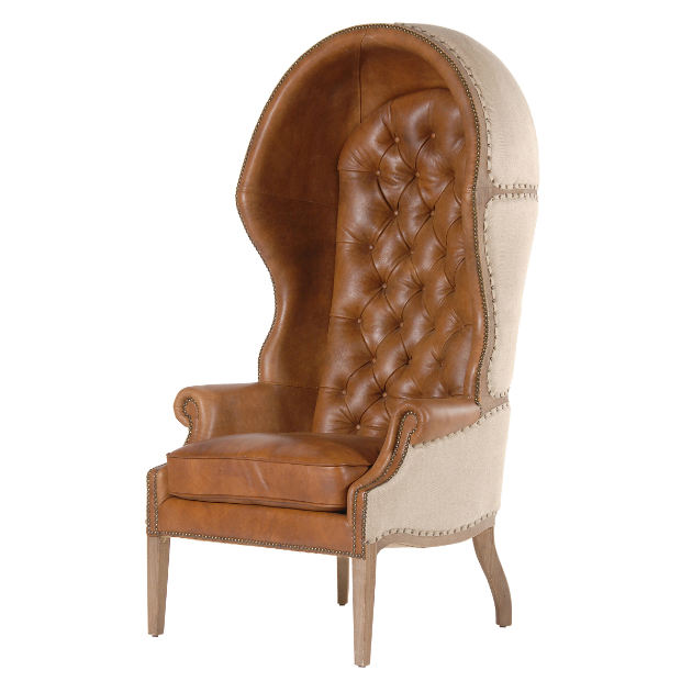 Leather & Linen Porter's Chair, Alexander & Pearl £1895.00