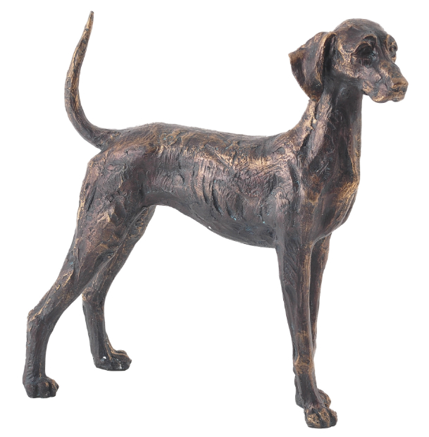 Dog Wagging Tail Bronze Finish Sculpture, Artisanti £32.00