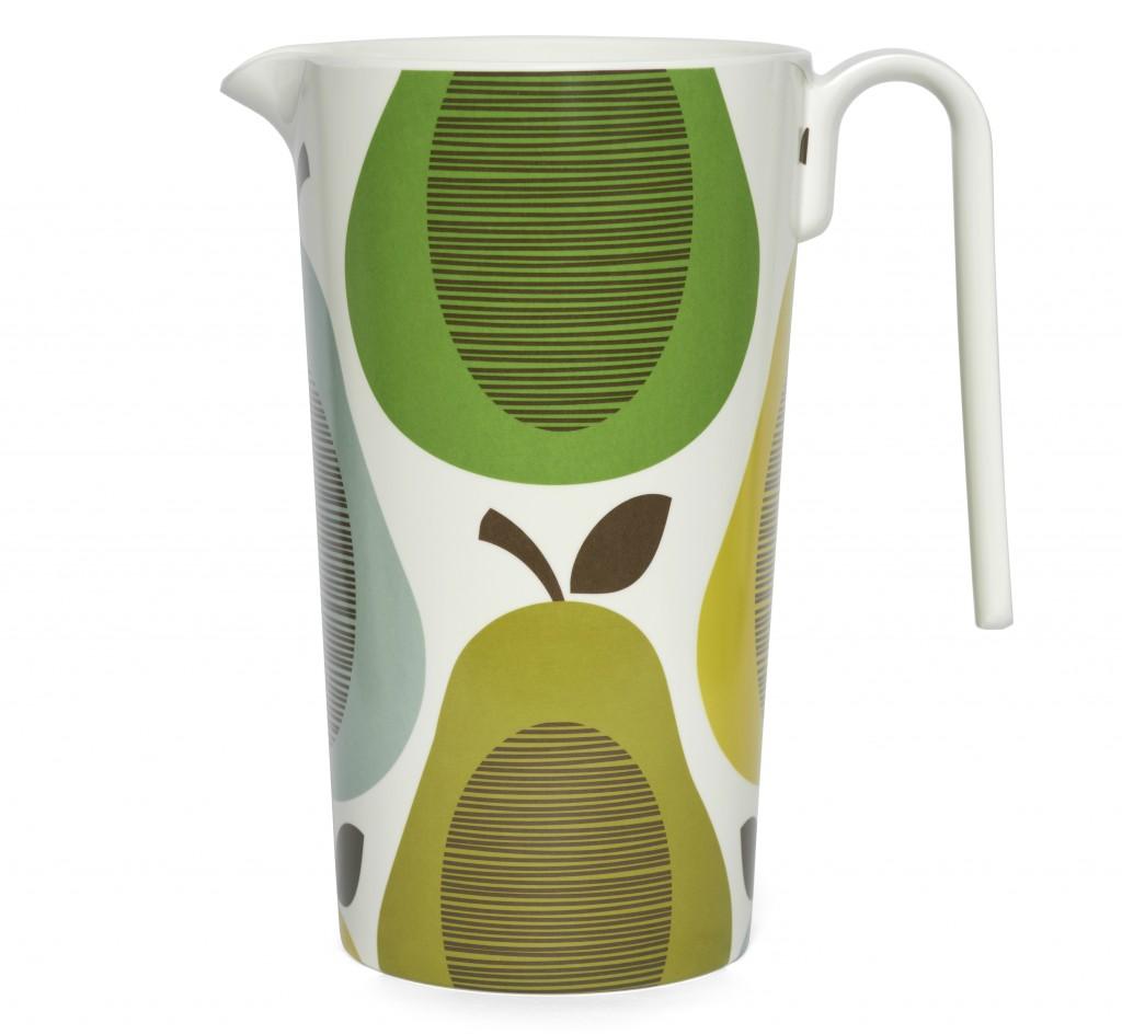 Orla Kiely Pitcher Giant Pear Peppermint, Berry Red £25.00