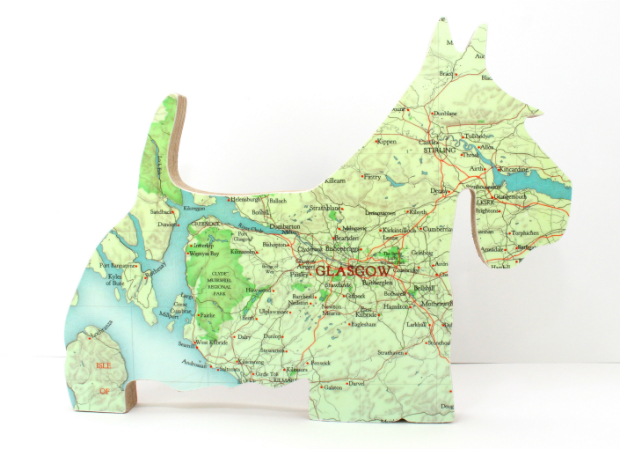 Freestanding Map Scottie Dog, Bombus Ltd £25.00