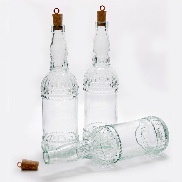 Assisi 72 cl. Italian glass bottle with cork stopper, JasmineWay £12.00