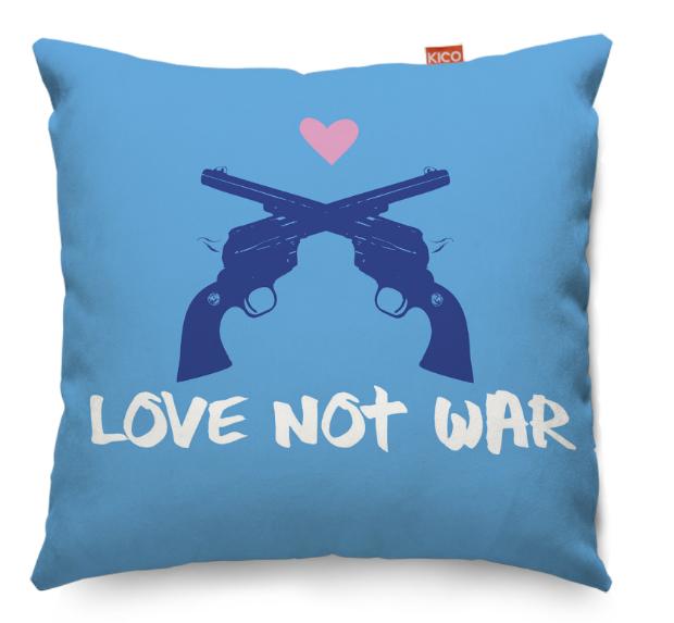 Love Not War Cushion, KICO Products £19.99