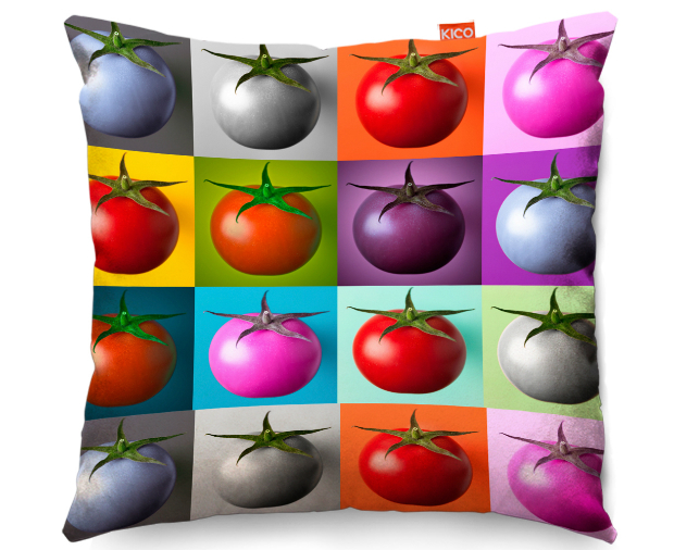 Tomato Collage Cushion, KICO Products £19.99