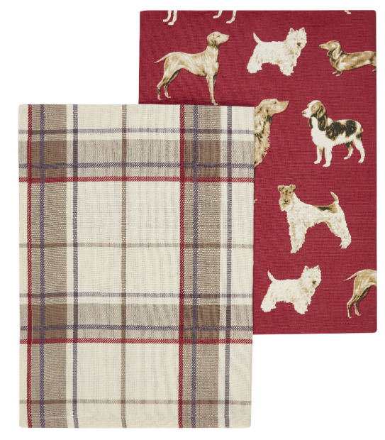 Highland Check Set of 2 Tea Towels, Laura Ashley £12.00