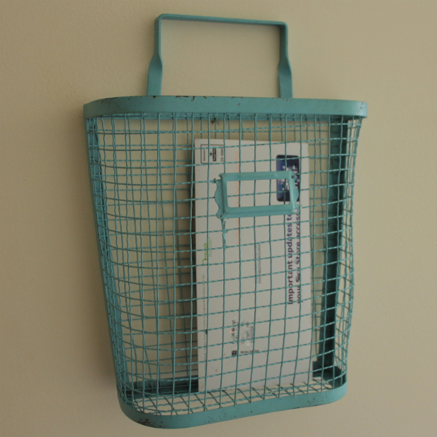 Duck Egg Blue Wire Storage Rack, Melody Maison £19.95