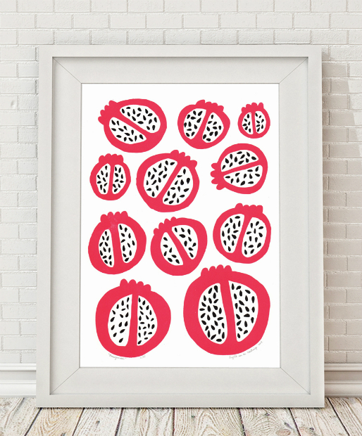 Pomegranates limited edition silkscreen print, Mengsel £29.00