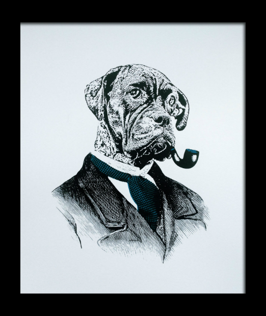 Top Dog Print framed, Noble & Proud £110.00
