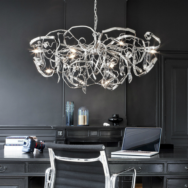 Delphinium Chandelier Oval, Ottimo Lighting £6,457.00