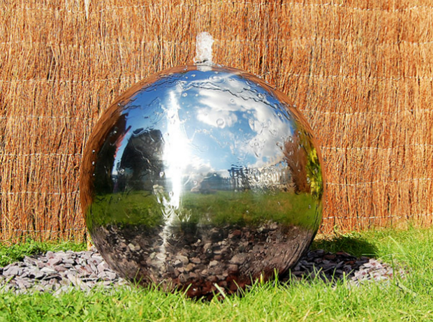 Stainless Steel Sphere Water Feature with LED lights, Primrose £105.95