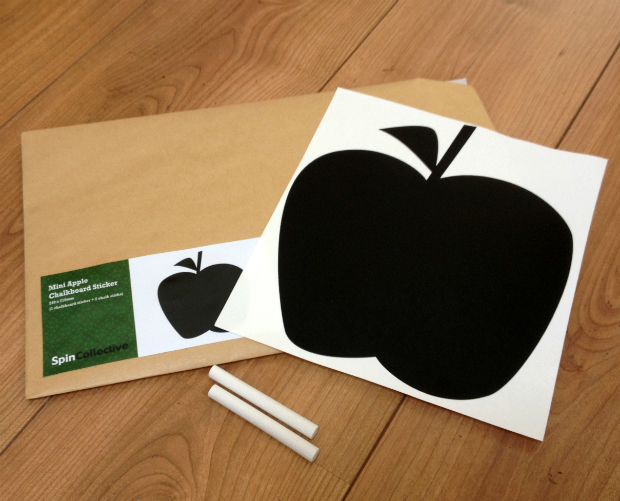 Mini Apple Chalkboard Pack, Spin Collective £6.00