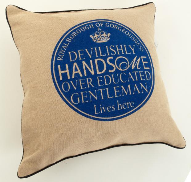 'Devilishly Handsome Gentleman' Cushion, The Oak Room £26.99