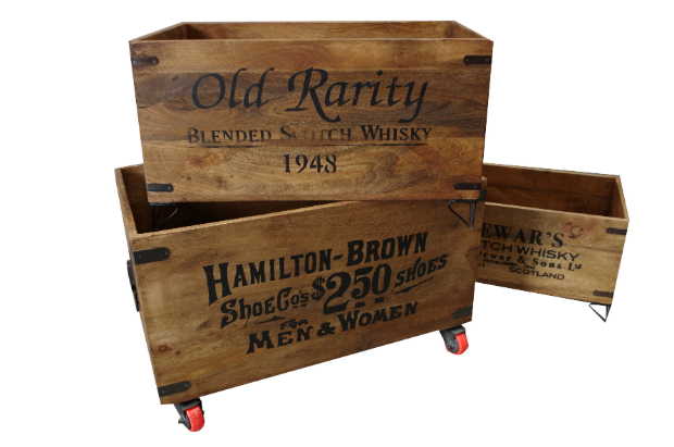 Wooden Storage Crates - Set of 3, Vincent and Barn Ltd £85.00