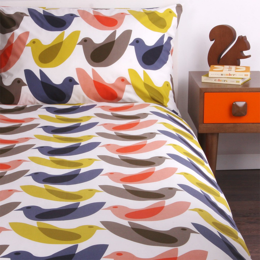 Orla Kiely Birds Duvet Cover and Pillowcase Set, John Lewis £80.00 - £90.00