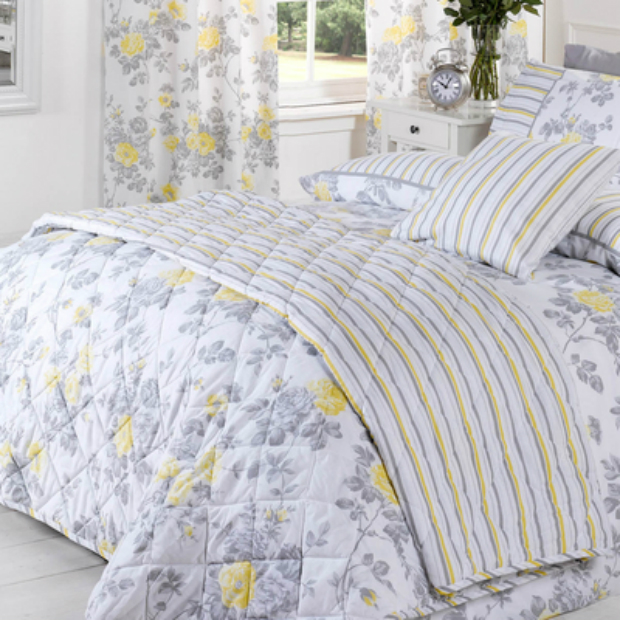 Laura Bedspread Lemon, Terrys Fabrics (Was £38.99) Now £29.99