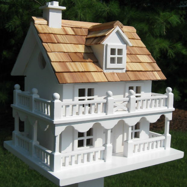 White Cottage Novelty Bird House, Garden Bazaar £34.99