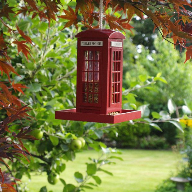 Garden Bazaar Telephone Box Bird Feeder, Costco £24.99