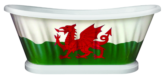 The Welsh Flag Bath, BC Designs £3420.00