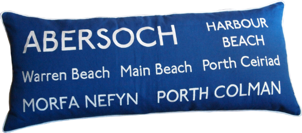 Abersoch Beaches Cushion, Barbara Coupe £85.00