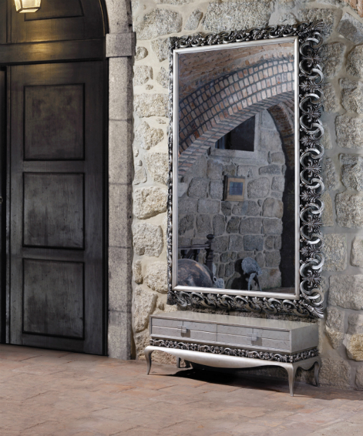 Monaco Silver Carved Mirror, Beautiful Modern Thing £4895.00