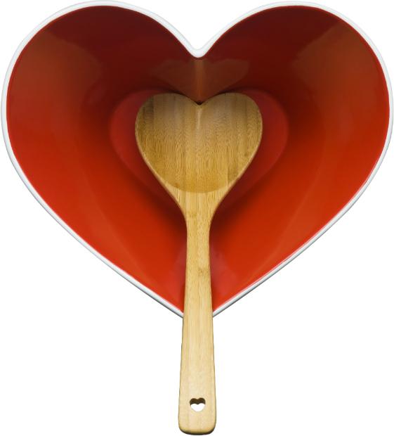 Sagaform Heart Bowl With Ladle, Cloudberry Living £32.50