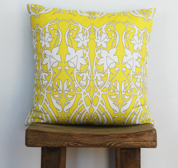 Deco Daffodil Yellow Accent Cushion, Eco Chic