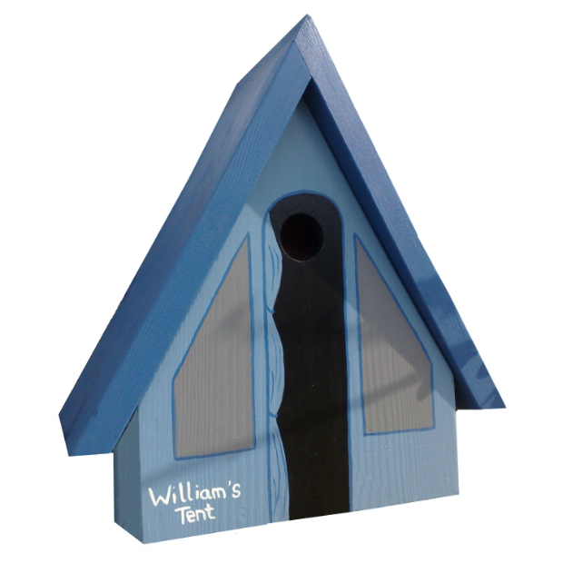 Personalised Tent Bird Box, Swanky Maison £55.00