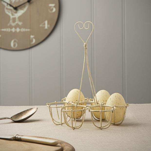 Cream Wire Egg Basket, The Contemporary Home £8.50