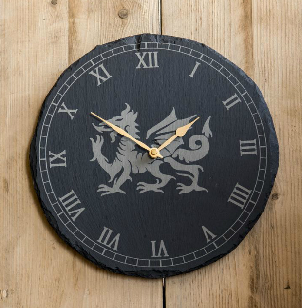 Welsh Slate Clock Dragon, ValleyMill £40.00